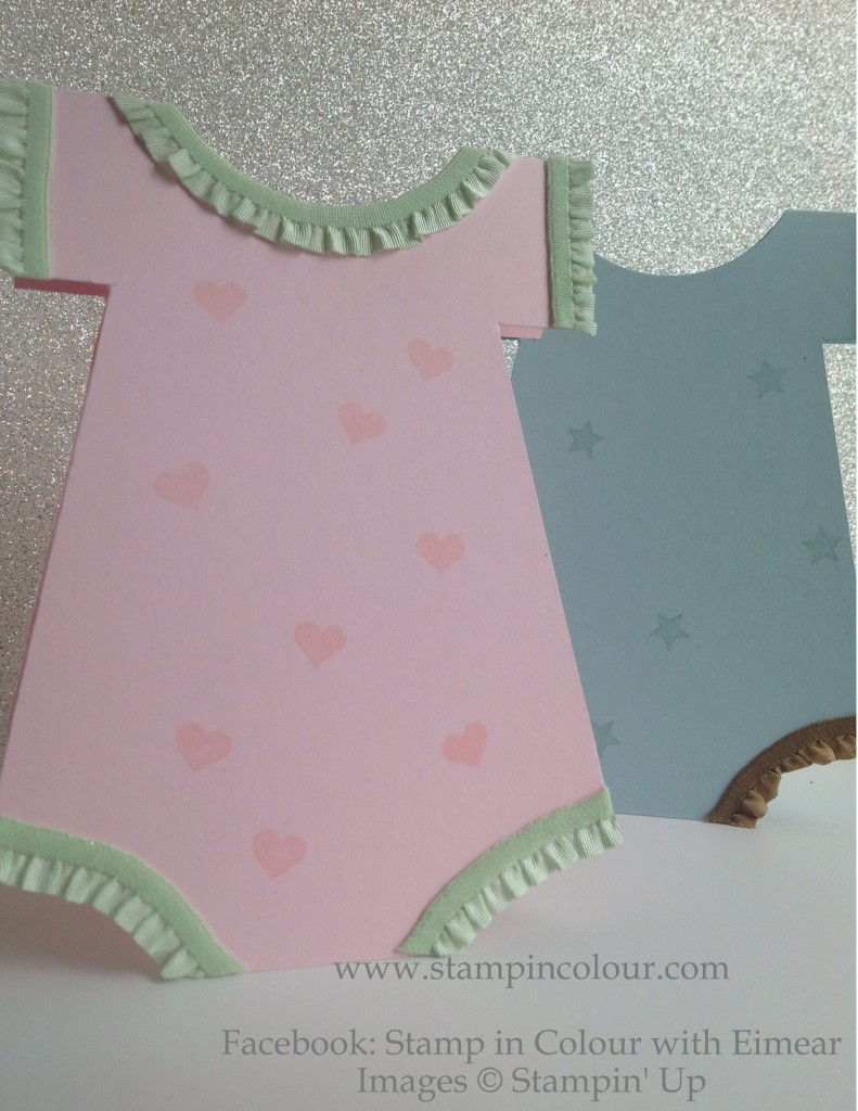 Stampin' Up babygrow cards pink-001