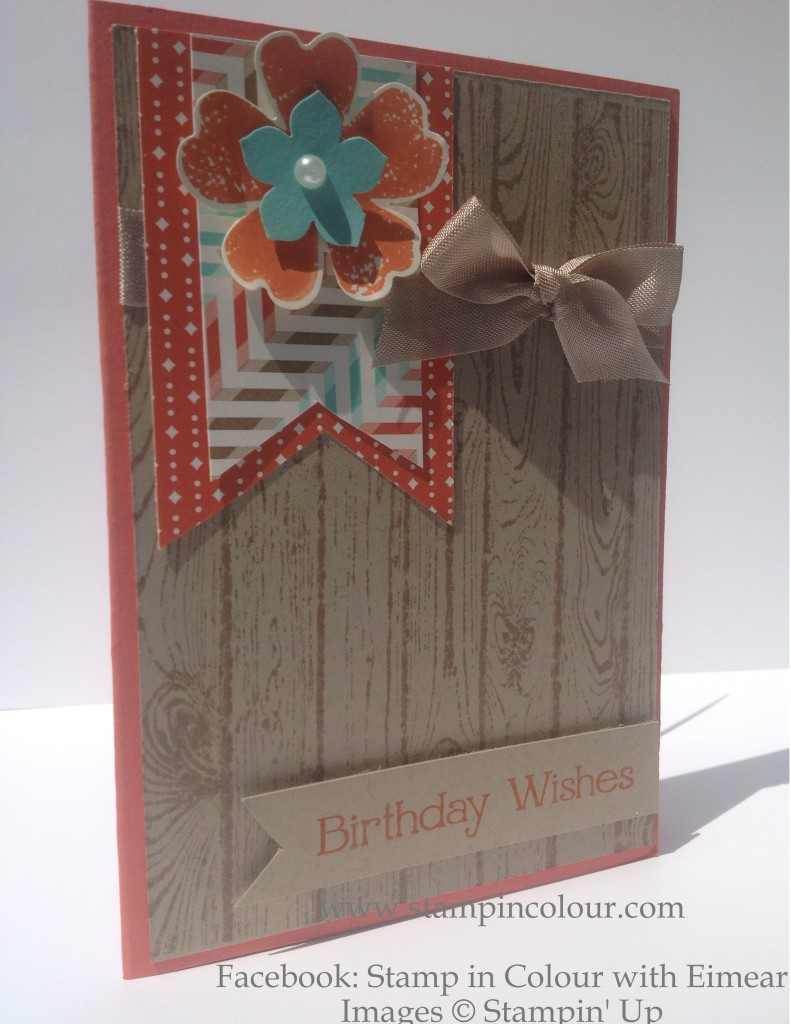 Stampin' Up Hardwood Retro Fresh Birthday card-001