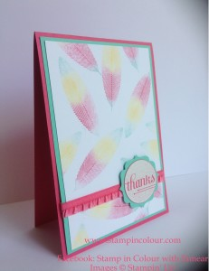 Stampin' Up Babywipe technique a happy hooray-001