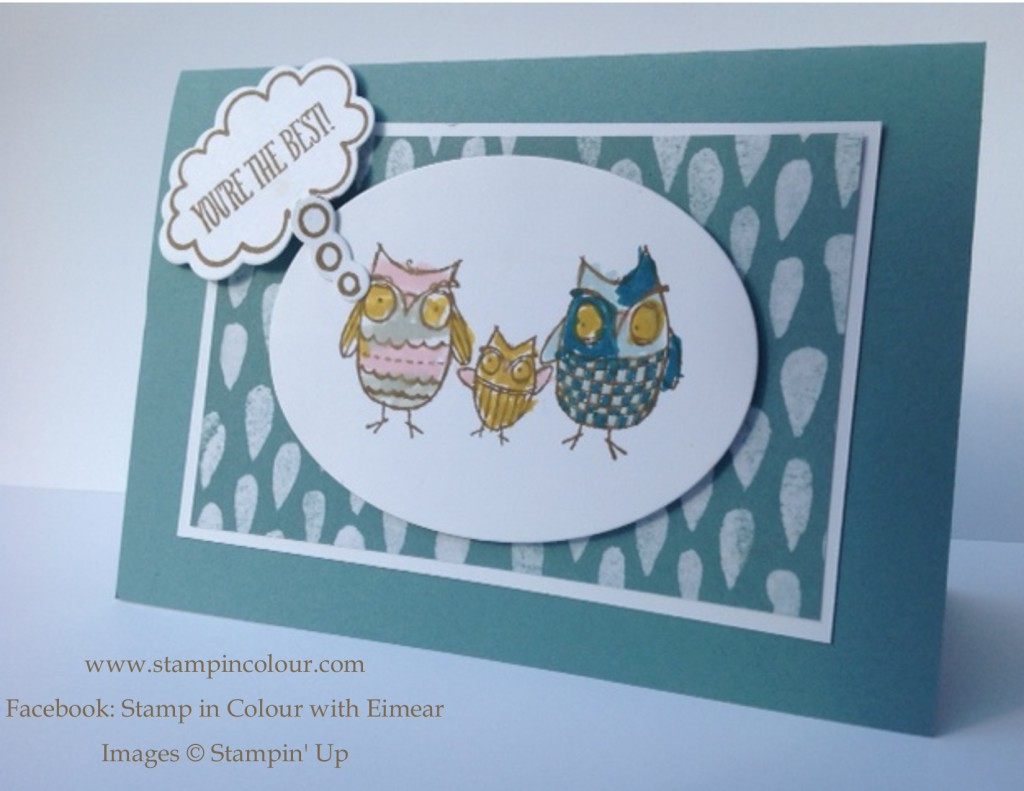 Stampin' Up Kids Borthday card for Dad-001