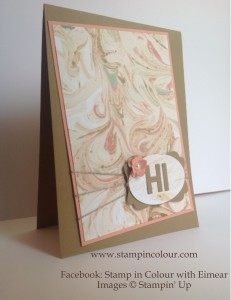 Stampin Up Ink Marbling Technique August 2014-001