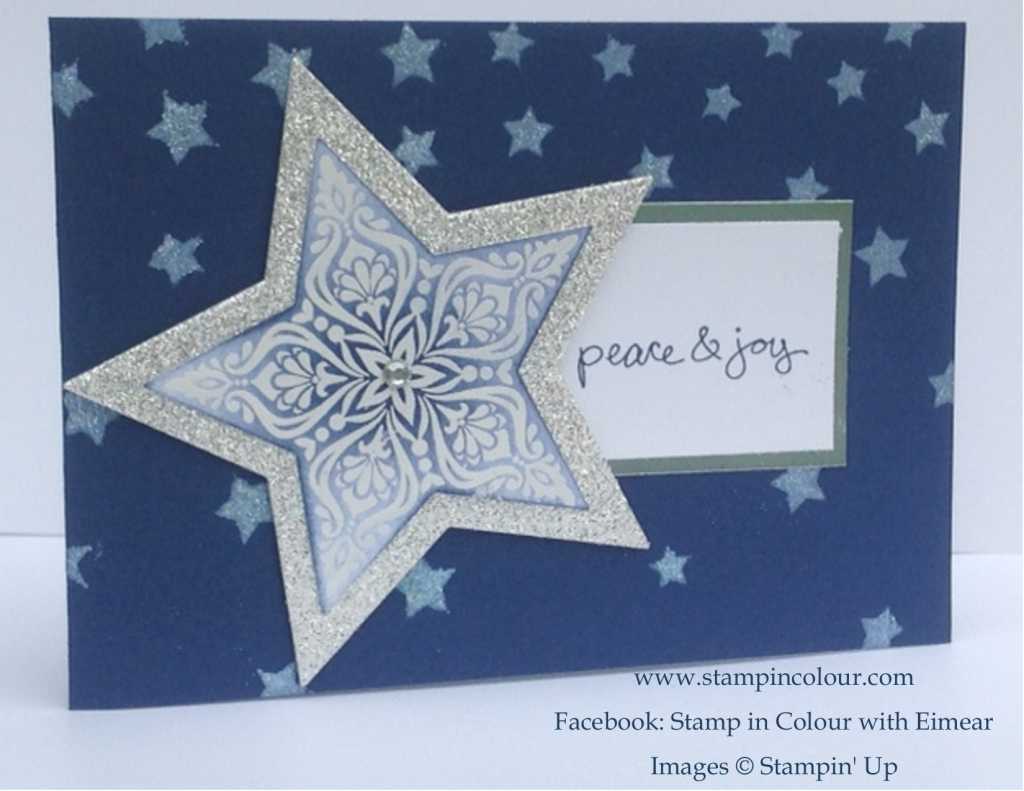 Stampin' Up Bright and Beautiful Glitter star-001