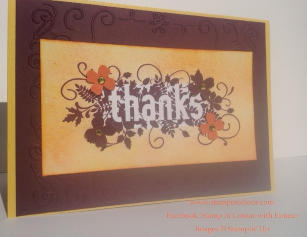 Stampin' Up Seasonally Scattered CASE-001