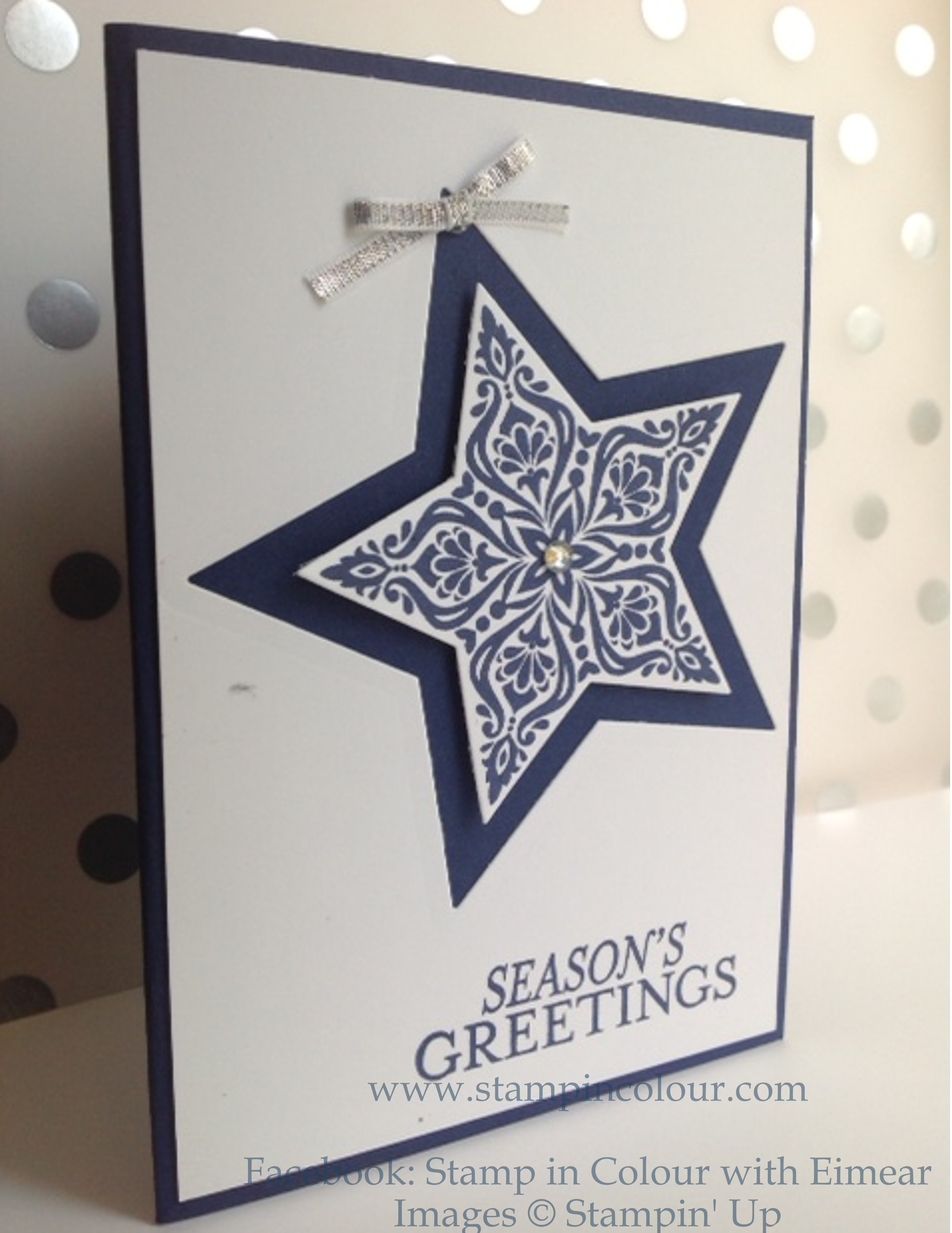 Christmas Card Making Ideas Stampin Up Part - 40: Stampinu0027 Up Bright And Beautiful Night Of Navy-001
