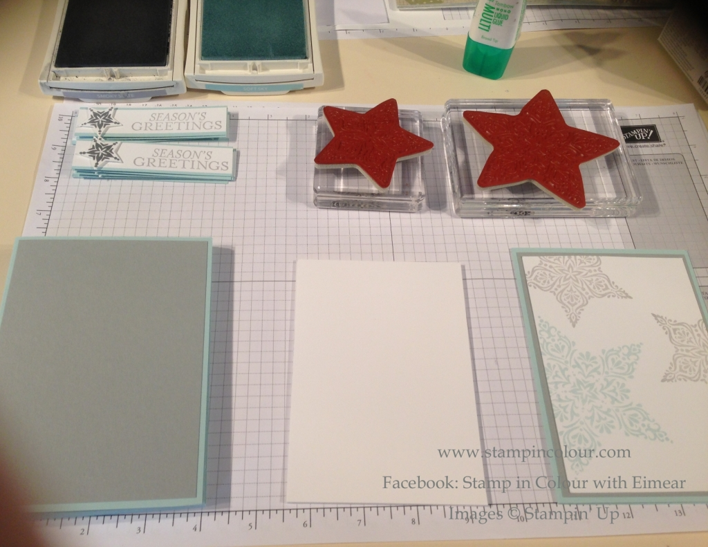 Stampin' Up Bright and Beautiful work station-001