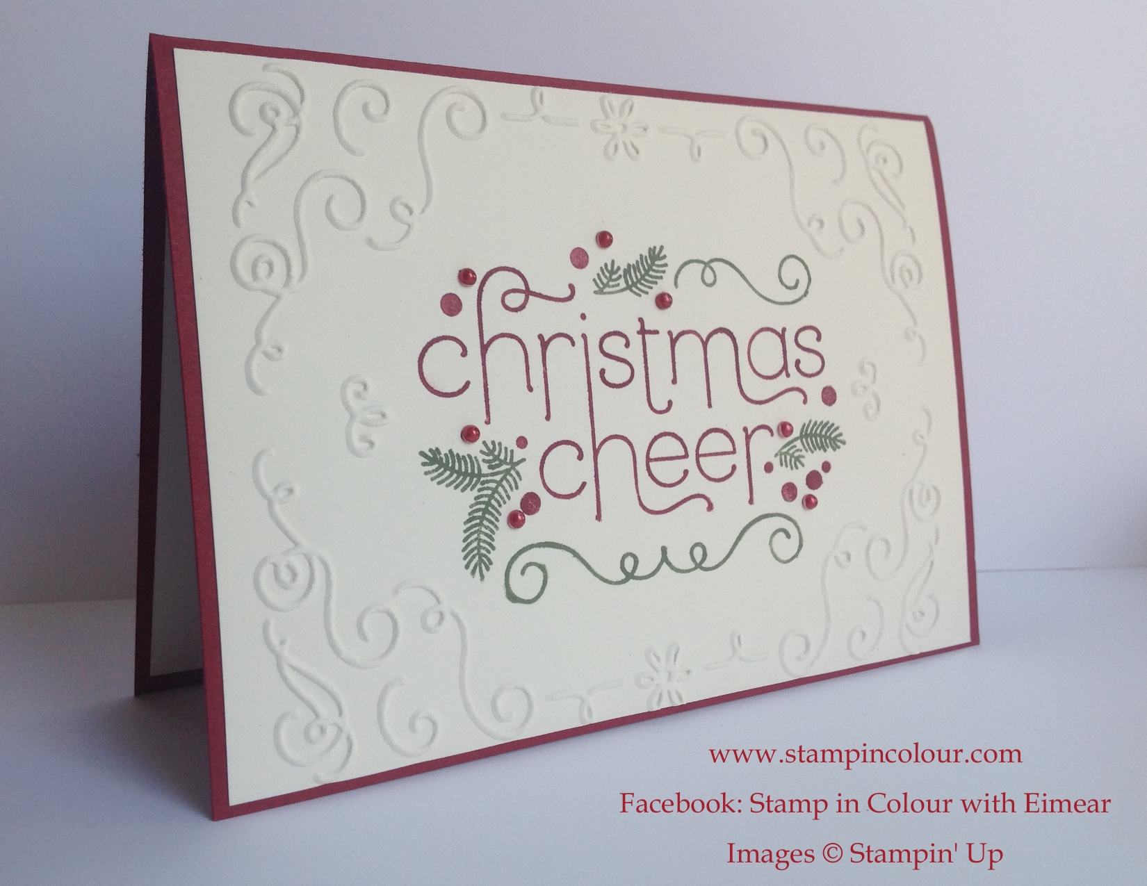 Christmas Card Making Ideas Stampin Up Part - 22: Stampinu0027 Up Christmas Cheer Catalogue Case-001