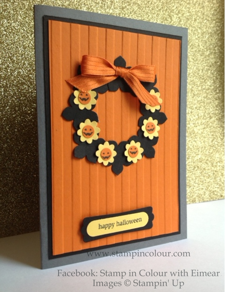 Stampin' Up Halloween Wreath with Petite Petals-001