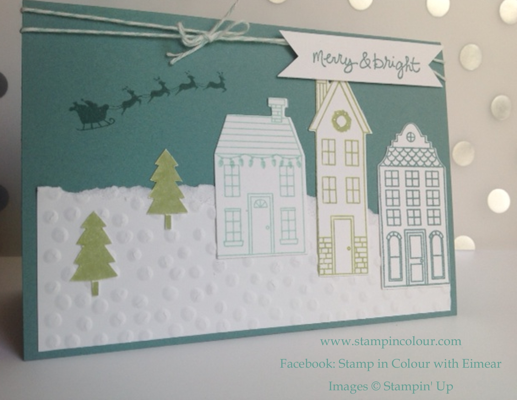 More Christmas card inspiration with Stampin\' Ups Holiday Home
