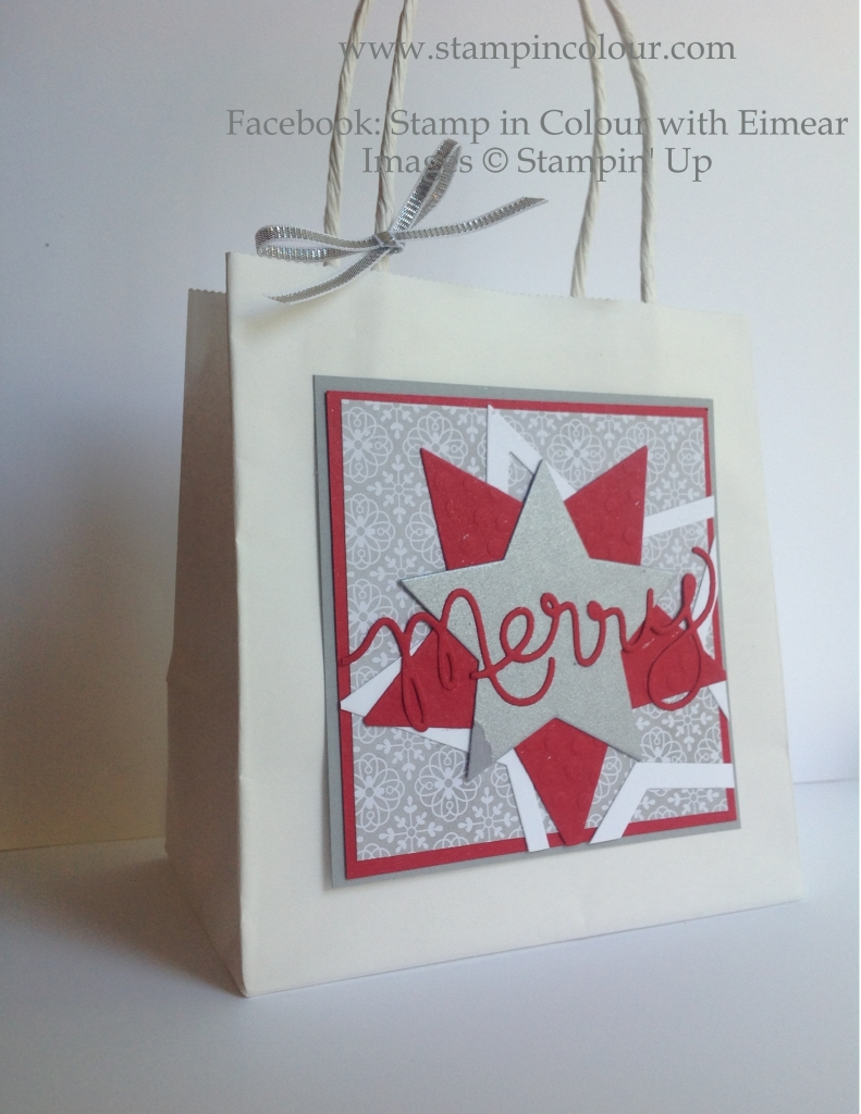 Stampin' Up Merry Gift Bag-001