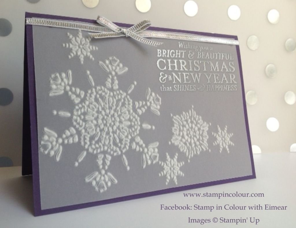 Stampin' Up Northern Flurry meets Bright and Beautiful-001