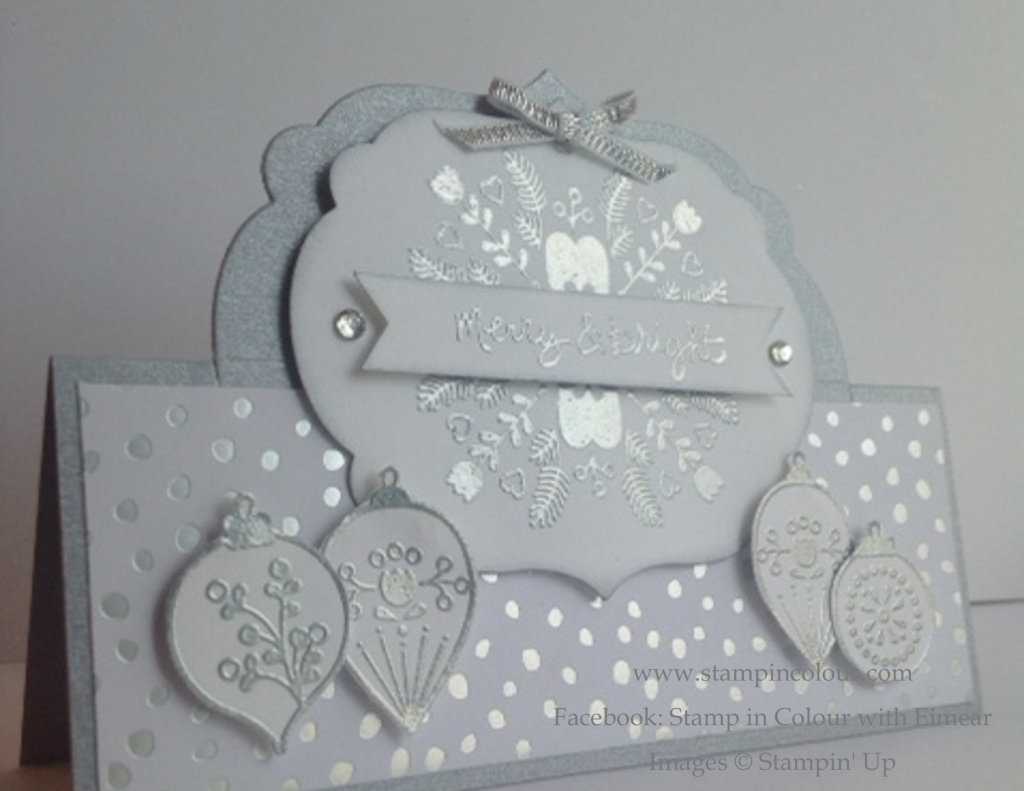 Stampin' Up Silver Embossed Cheerful Christmas-001