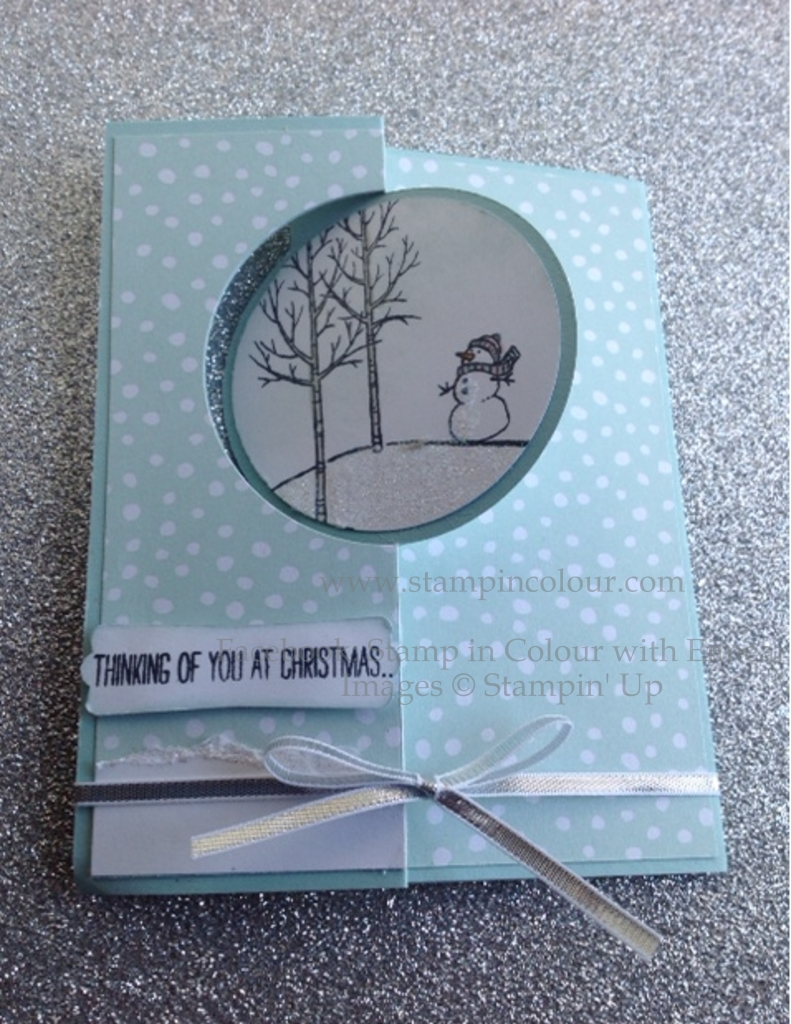 Stampin' Up Closed Thinlit card with White Christmas-001