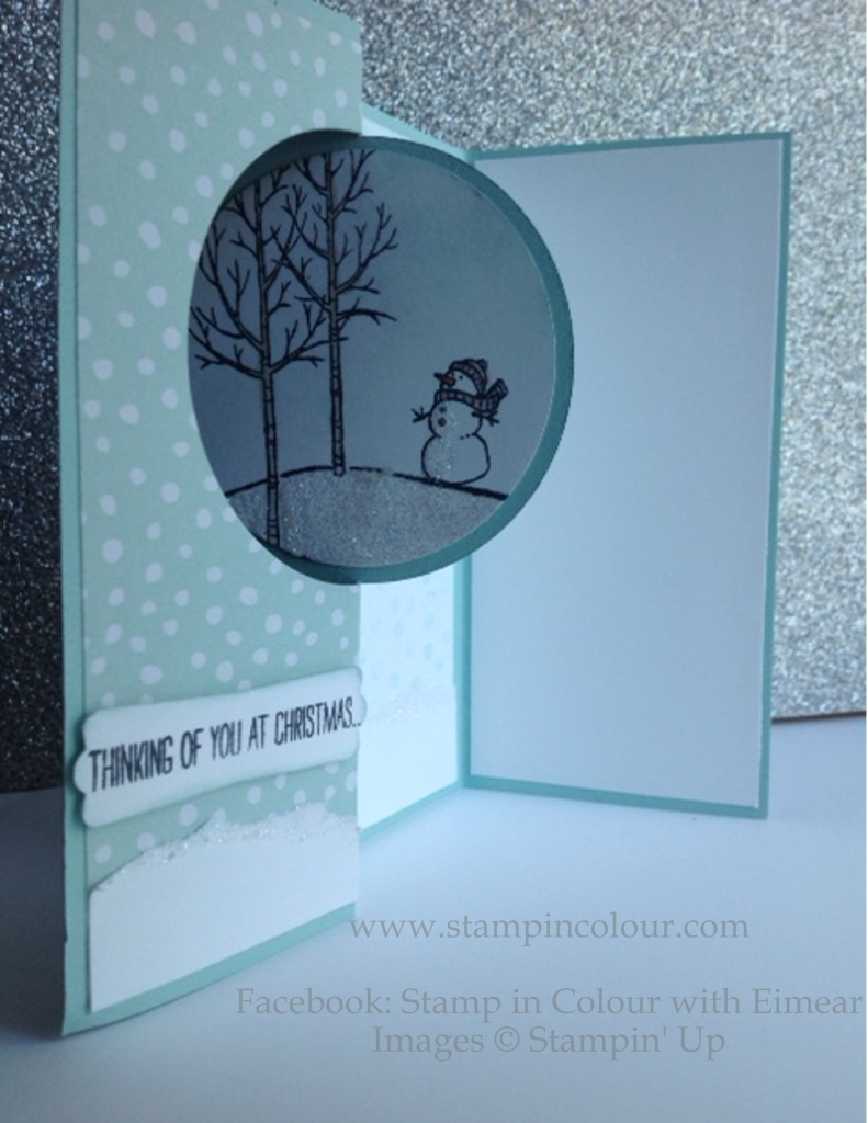 Stampin' Up Open Thinlit card with White Christmas-001