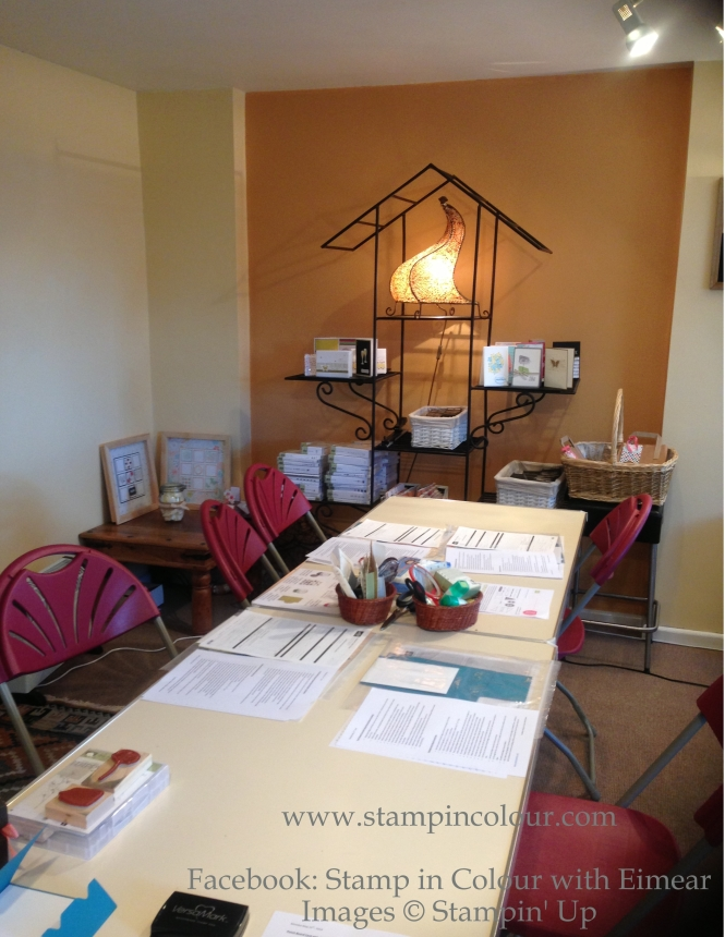 Stamping class with Eimear at Stampincolour
