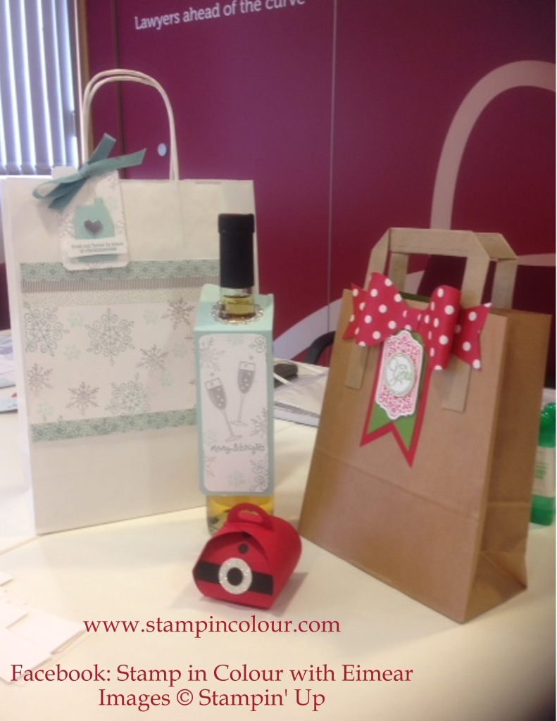 Stampin' Up Private Class Bags and Tags close up-001