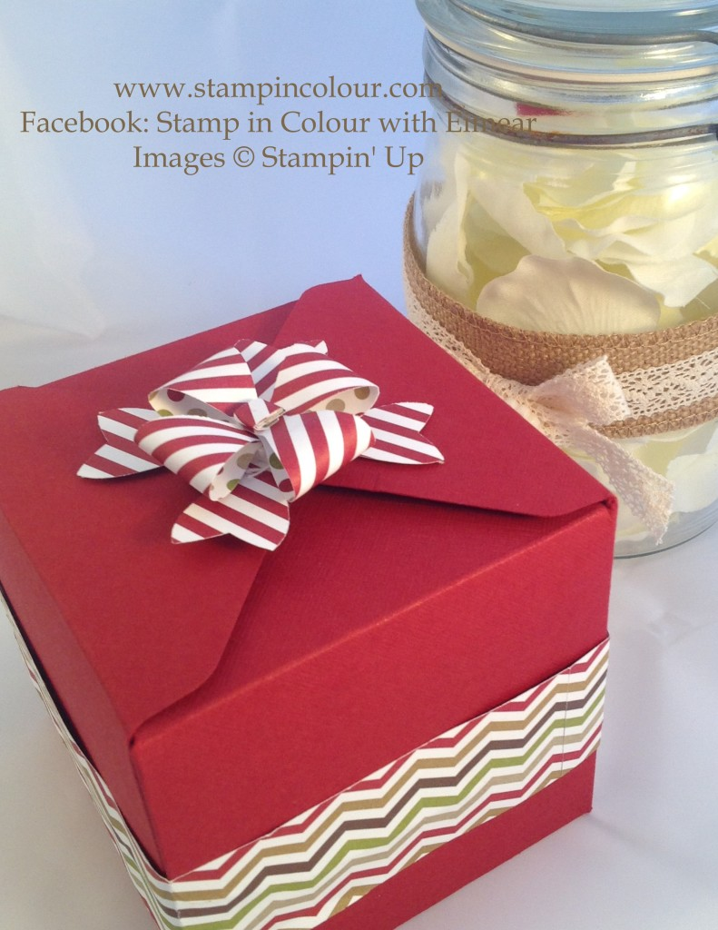 Stampin Up Bow Builder Striped Box Bow-001