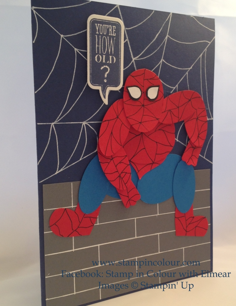Stampin Up Spiderman punch art-001