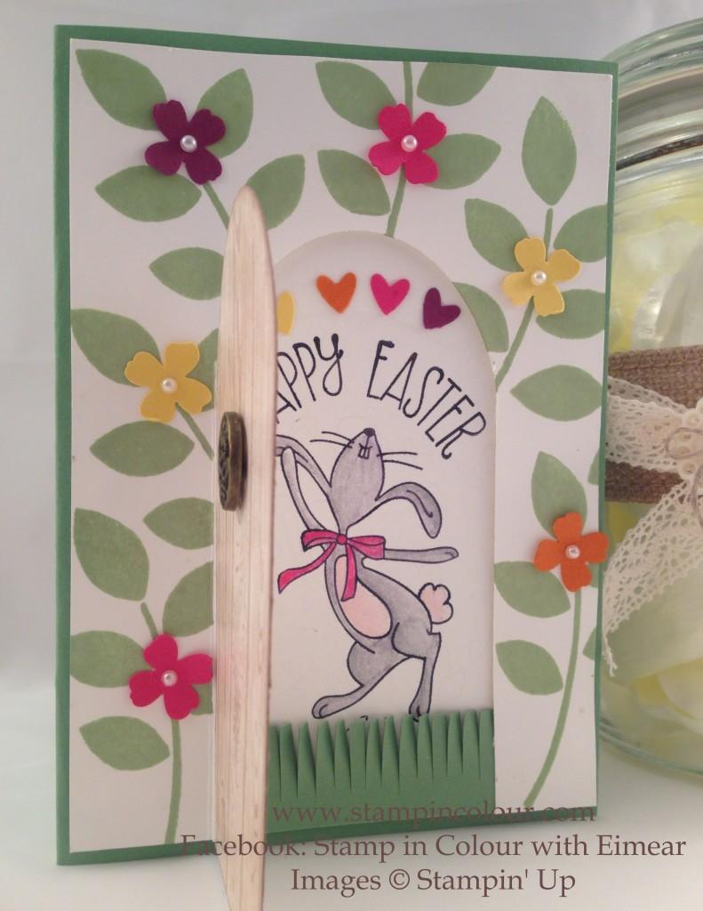 Stampin Up Secret Easter Garden door open-001