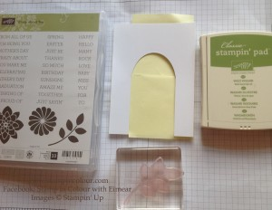 Stampin' Up Secret Garden Door Instructions 5-001