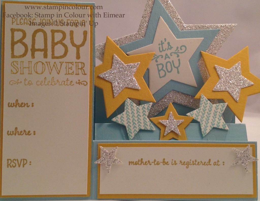 Stampin Up Sweet Lil' Ones baby Shower Invitation-001