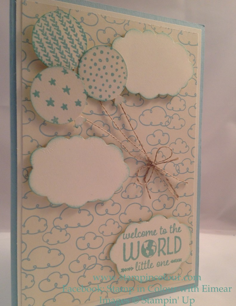 Stampin Up Sweet lil' ones clouds and balloons-001