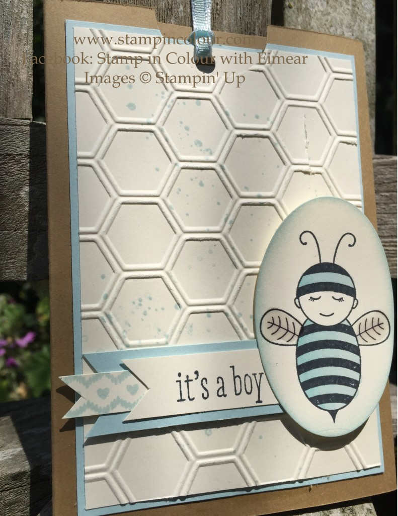 Stampin Up Baby Bumblebee Thank you 1-001
