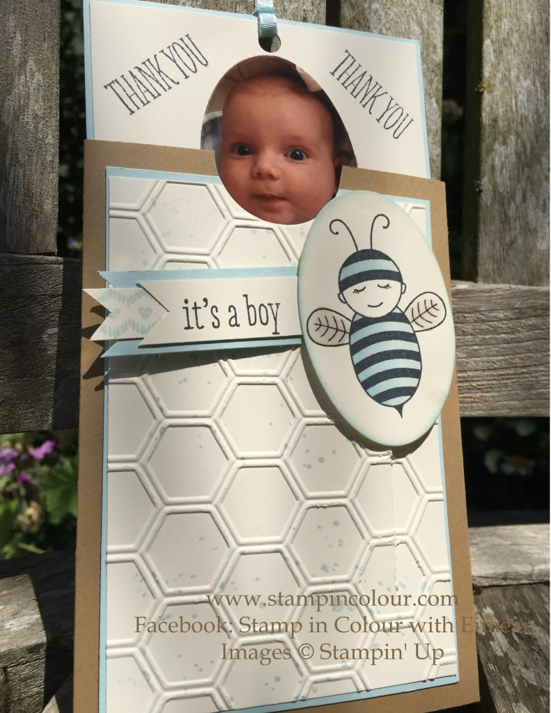 Stampin Up Baby Bumblebee Thank you 2-001