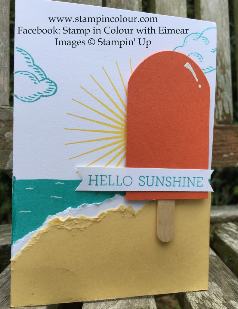 Stampin Up Kinda Ecletic Crazy about you sprinkles of life ice lolly-001