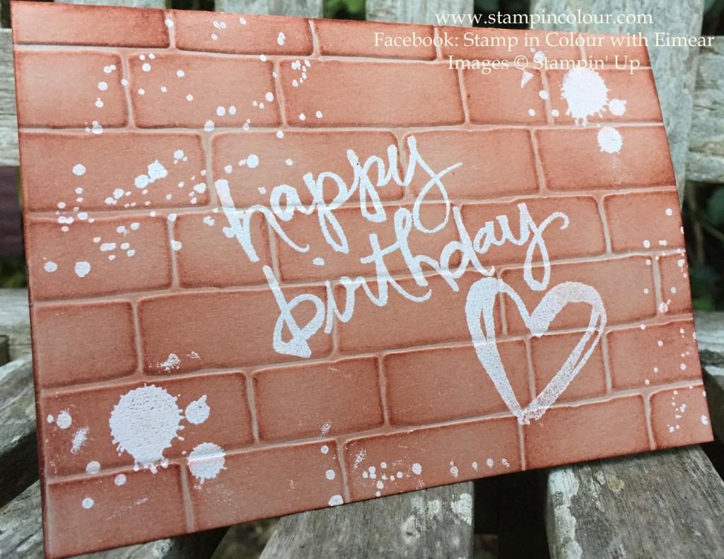 Stampin Up Watercolor Words Brick Wall-001