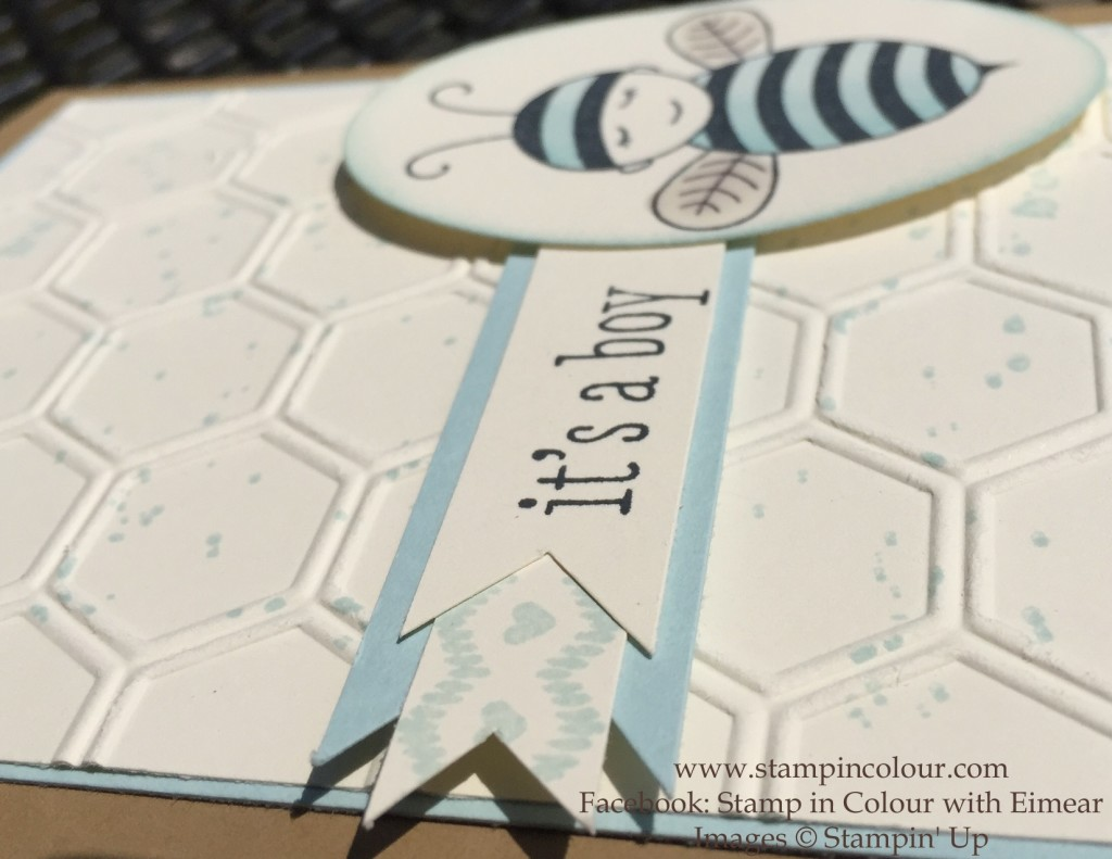 Stampin' Up baby bumblebee Thank you 3-001