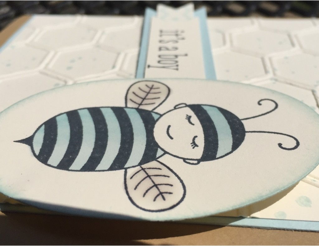 Stampin' Up baby bumblebee Thank you 4-001