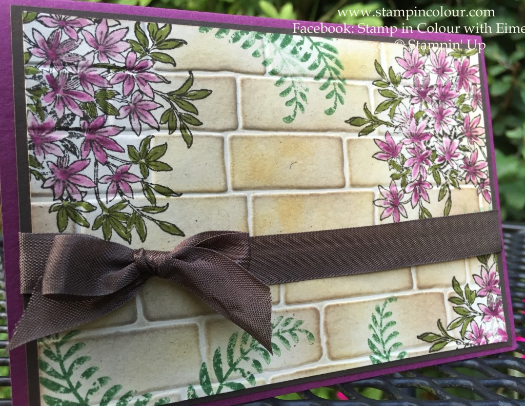 StampinUp Awesomely Artistic Brick Wall-001