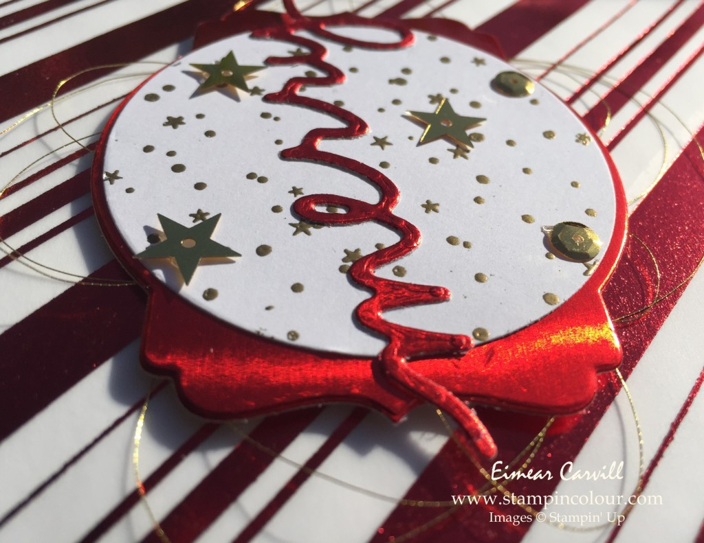 Stampin Up Holly Jolly Christmas Greetings close-up red-001
