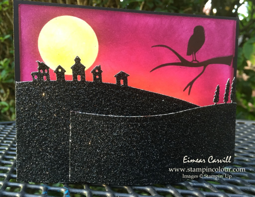 Stampin Up Among the Branches Halloween bendy card-001