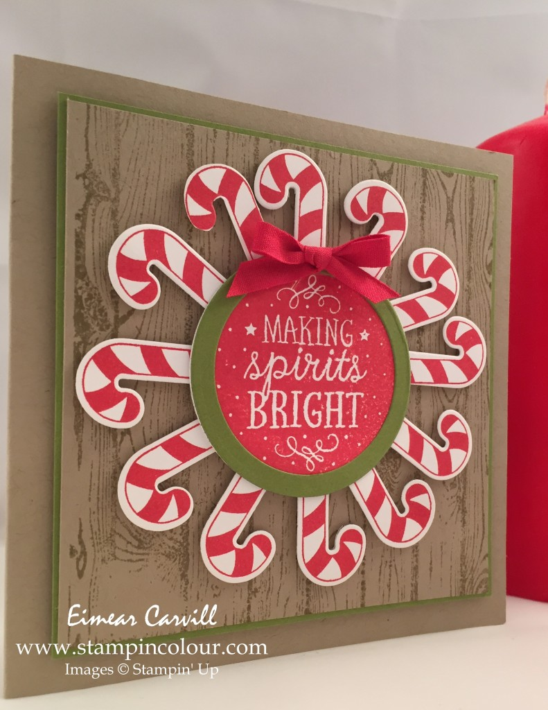 Stampin Up Candy Cane Wreath GDP#013-001