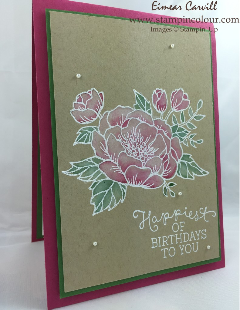 Stampin Up Birthday Blooms #GDP017-001