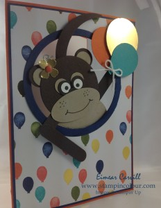 Stampin Up Punch Art Cheeky Monkey Birthday Bouquet-001