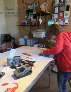 Stampin Up children crafting-001
