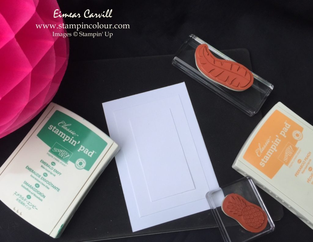 Stampin Up Triple Time stamping tutorial 1-001
