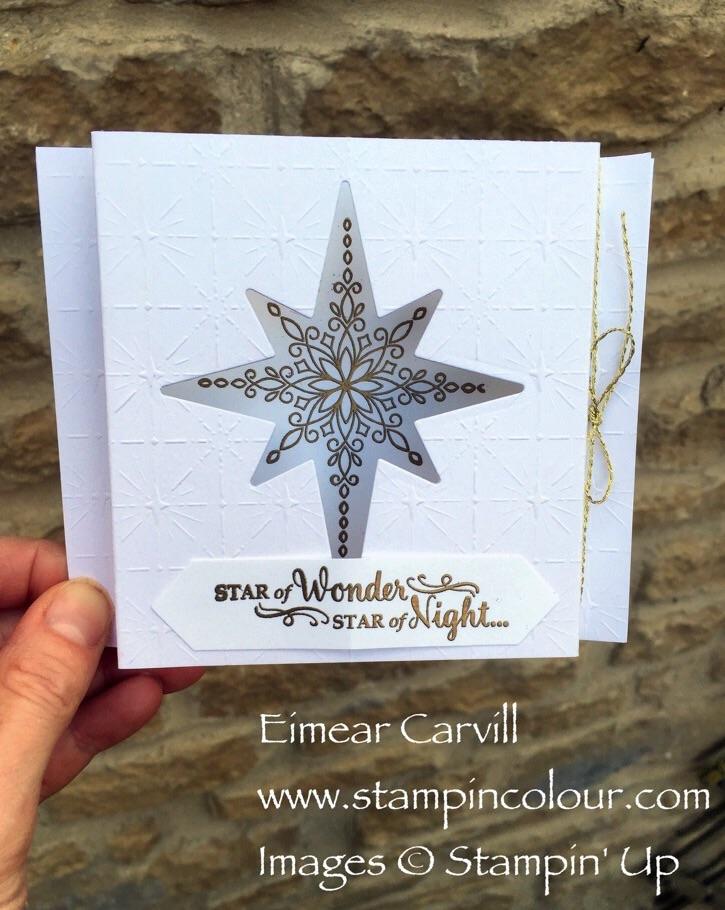 Stampin Up Star of Light Diorama card