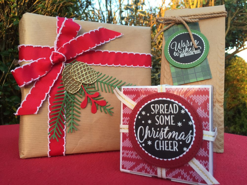Stampin' Creative Christmas Gift Wrapping Ideas