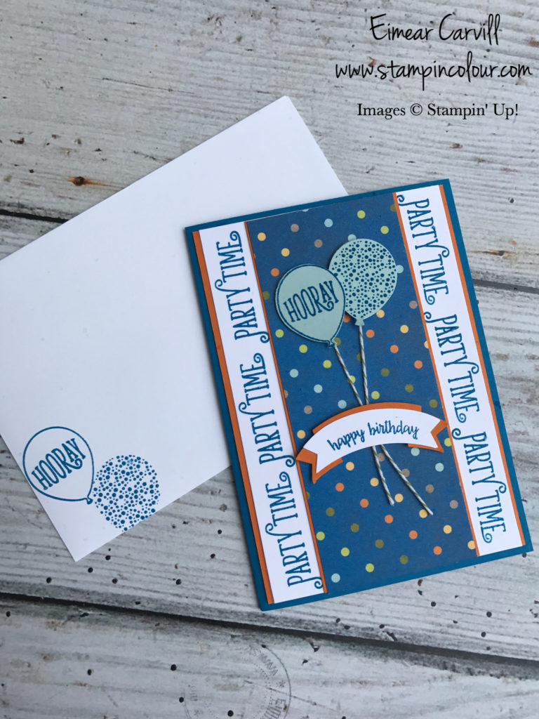 happy Birthday Gorgeous, video tutorial, quick and easy birthday card, stampin' up, stampincolour, Eimear Carvill, Birthday Memories DSP, papercrafting, handmade birthday cards,