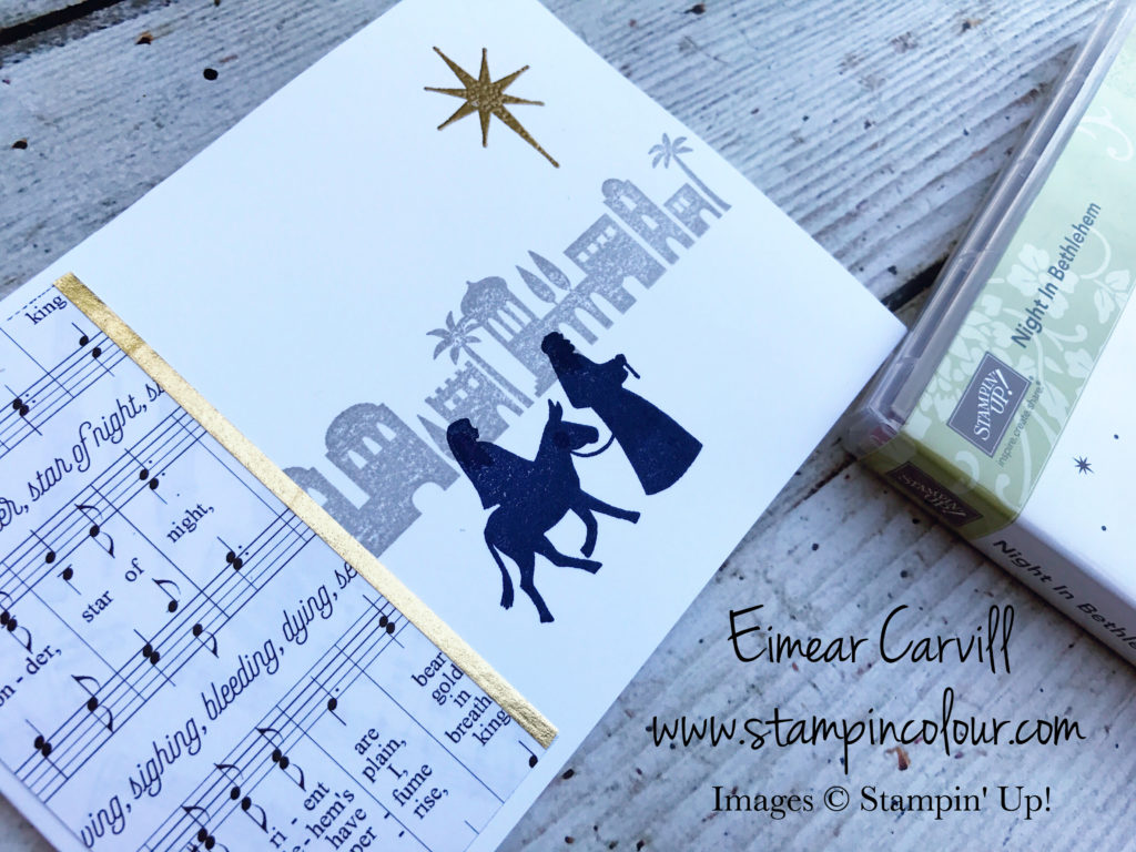 Night in Bethlehem Merry Music DSPQuick and Easy Christmas card