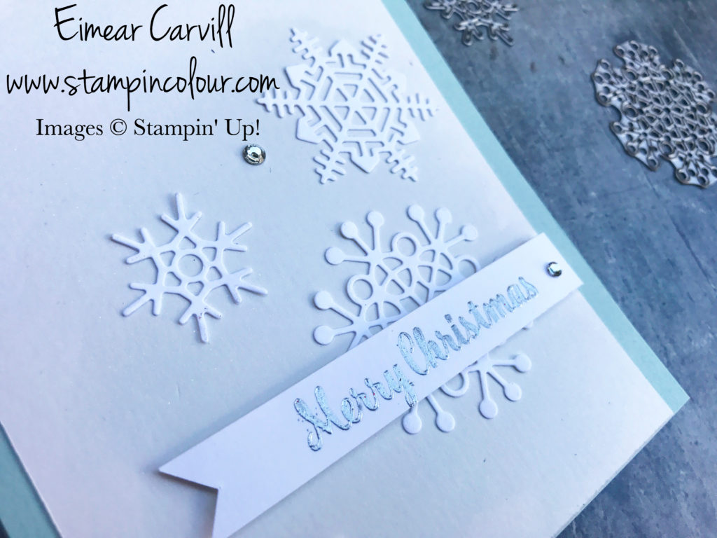 Seasonal Layers Christmas card Using scraps Eimear Carvill stampincolour Let's Get Hopping