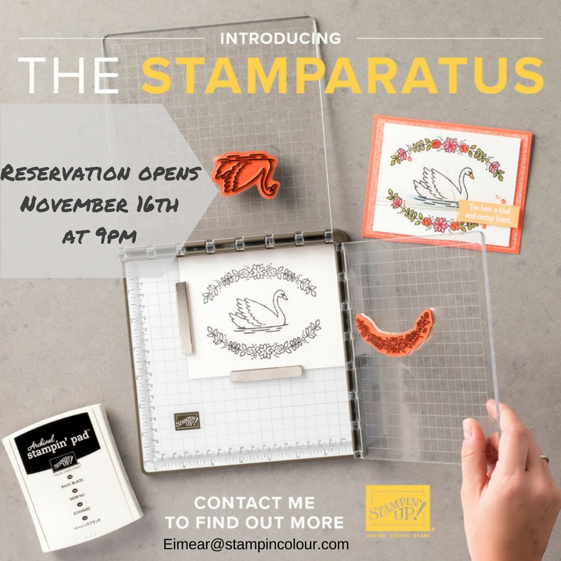 Stamparatus Reservation opens November 16th