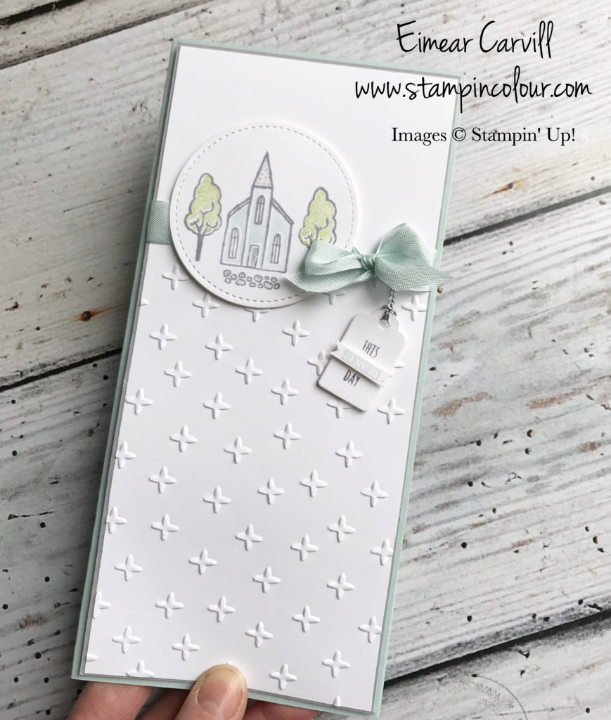 Eimear carvill, www.stampincolour.com, In the City, handmade christening card, papercrafting, swindon cardmaking classes