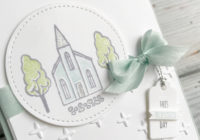 Eimear Carvill, www.stampincolour.com, Christening card, Stampin' Up hostess set In the City, handmade christening card, papercrafting, Wiltshire crafts