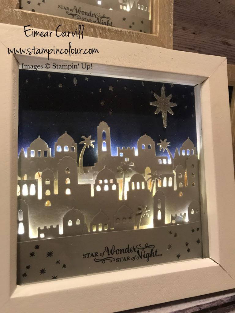 Bethlehem, Night in Bethlehem, Shadow Box Frame, Christmas Home Decor, Stampin' Up, Christmas decoration