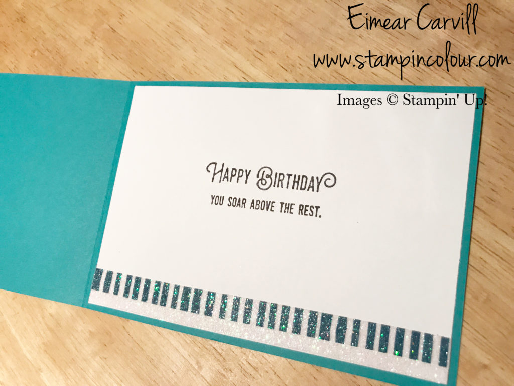 Birthday Boy card with Myths and Magic Glimmer paper and free SAB 2018 DSP