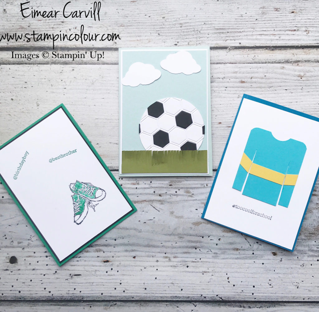 Birthday Boy cards using Epic Celebrations and retired sets